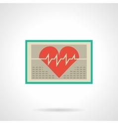 Heart monitor flat color icon vector