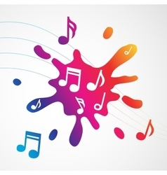 Music abstract colorful splash vector image