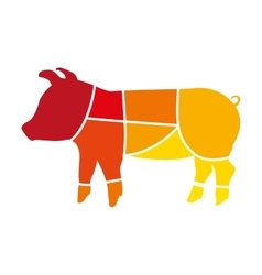 Pork animal farm isolated icon design vector