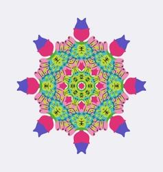 Round ornament bright colors mandala ethnic decora vector