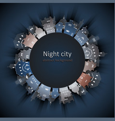 Abstract 3d paper city background vector
