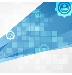 Abstract blue tech communication background vector