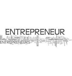 Are you an entrepreneur text word cloud concept vector
