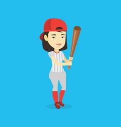 baseball player with bat vector image