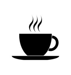 Black coffee cup icon vector