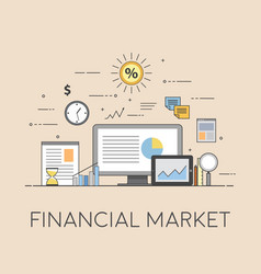 Business and finance digital technologies vector