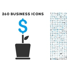 Business Project Plant Icon with Flat Set vector image vector image