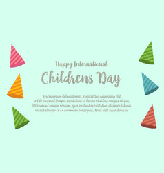 Childrens day design greeting card vector
