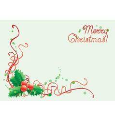 Christmas holly decoration vector