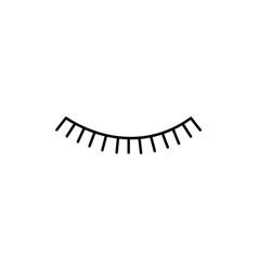 closed eye icon vector image
