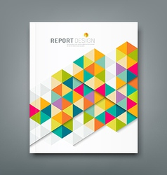 Cover report abstract colorful geometric template vector