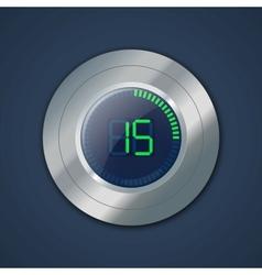Digital timer vector image vector image