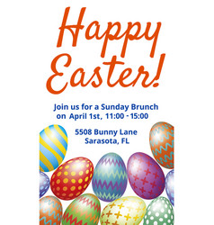 easter brunch invitation card vector image vector image