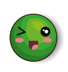 Emoticon style kawaii isolated icon vector