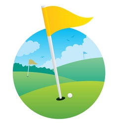 Golf flag vector