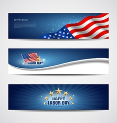 Labor day USA banner design set vector image vector image