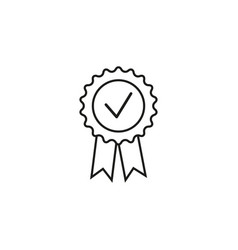 medal stamp first icon vector image