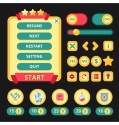 Medieval Game Interface vector image