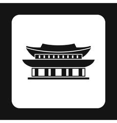Pagoda in south korea icon simple style vector