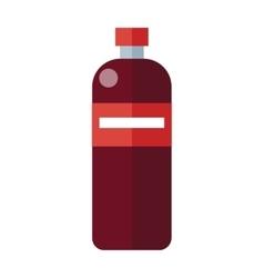 Red plastic bottle vector