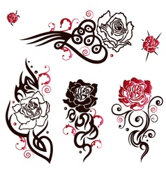 Roses Tattoos vector image vector image