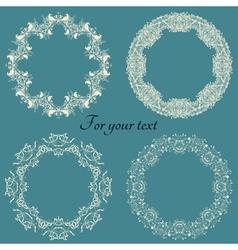 Set frames on a blue vector