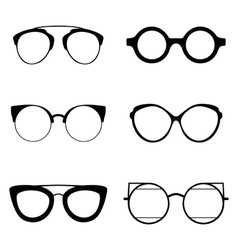 Set of various glasses Stylish sunglasses for vector image vector image