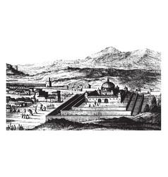 Temple of cusco vintage vector