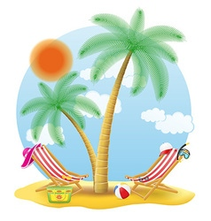 tropical palm tree 02 vector image vector image