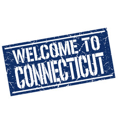 Welcome to connecticut stamp vector