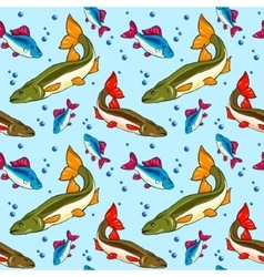 Seamless pattern fish vector