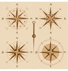 Vintage compasses set vector