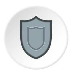 Combat shield icon flat style vector