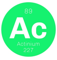 Actinium chemical element vector