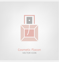 Cosmetic flacon icon vector