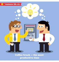 Coffee break collaboration vector