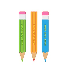 Pencils icon vector