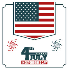 4th july independence day usa flag hanging poster vector