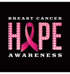 Breast Cancer Awareness Message vector image