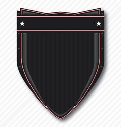 Black biker shield vector