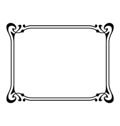 Art nouveau ornamental decorative frame vector