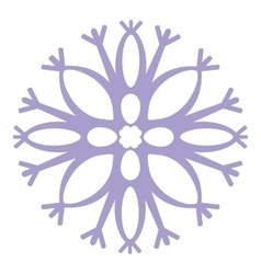 Isolated snowflake 04 vector