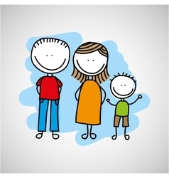 Lovely family icon vector