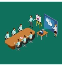 Isometric Presentation Room Concept vector image