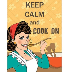 With massagekeep calm and cook on vector