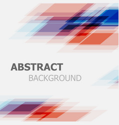 abstract blue and red business straight line vector image