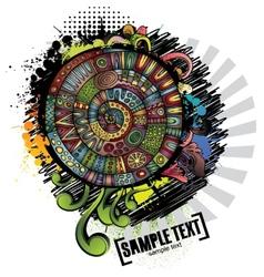 Abstract cartoon grunge design vector image