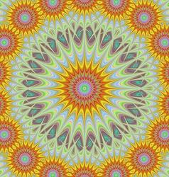 Abstract geometric sun mandala design background vector