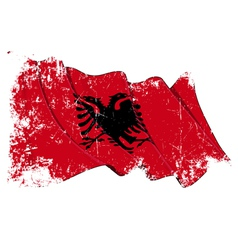 Albania Flag Grunge vector image vector image
