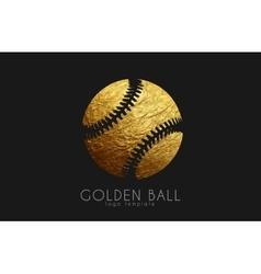 baseball game design baseball ball golden ball vector image
